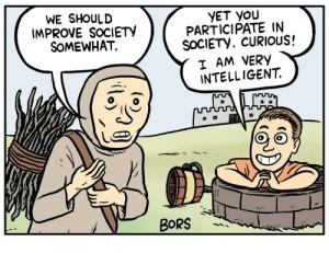 Bild som använts som så kallad meme i olika sammanhang. Från Matt Bors på https://thenib.com/mister-gotcha
